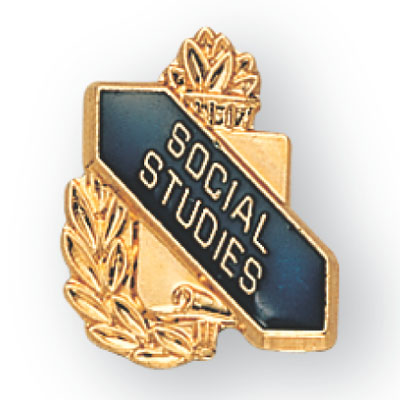 Social Studies Scroll Award Pin