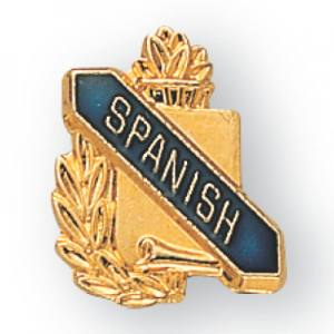 Spanish Scroll Award Pin