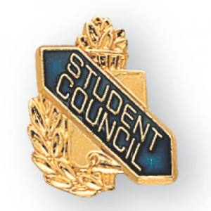 Student Council Scroll Award Pin