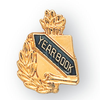 Yearbook Scroll Award Pin