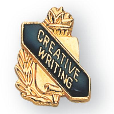 Creative Writing Scroll Award Pin