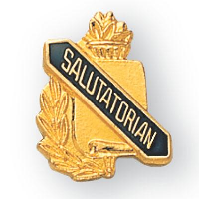 Salutatorian Scroll Award Pin