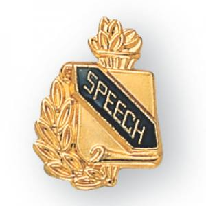 Speech Scroll Award Pin