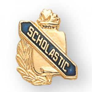 Scholastic Scroll Award Pin