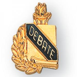 Debate Scroll Award Pin