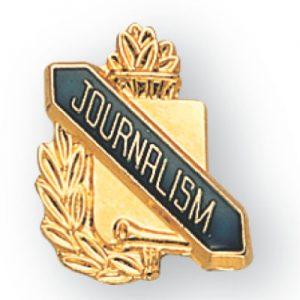 Journalism Scroll Award Pin