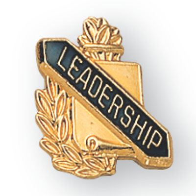 Leadership Scroll Award Pin