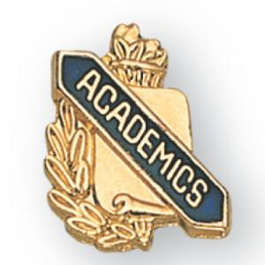 Academics Scroll Award Pin