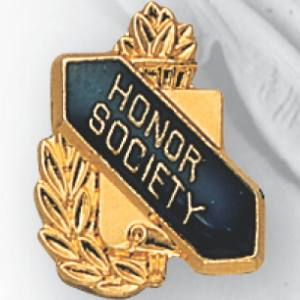 Honor Society Scroll Award Pin