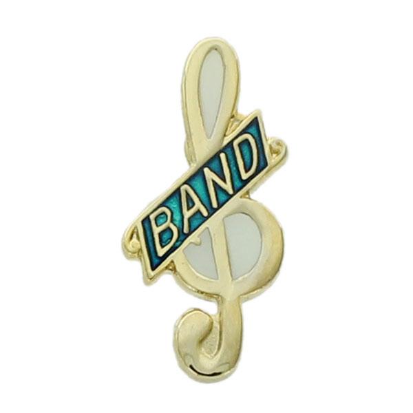 Band Clef Note Award Pin