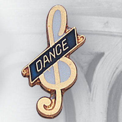 Dance Clef Note Award Pin