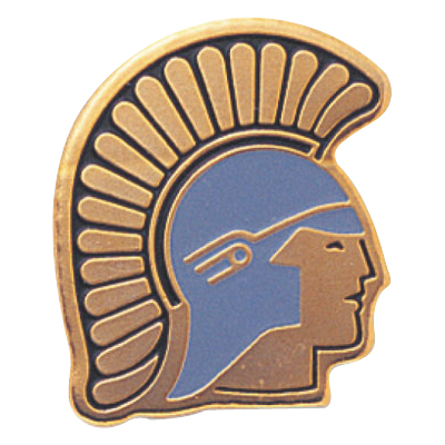 Trojan Mascot Award Pin