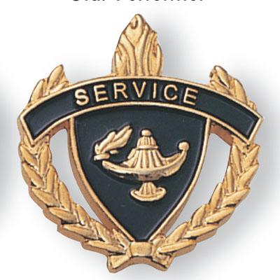 Service Scholastic Award Pins