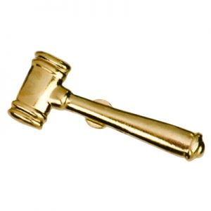 Gavel Chenille Pin
