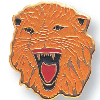 Lion Mascot Award Pin