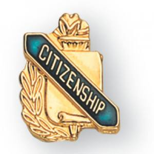Citizenship Scroll Award Pin